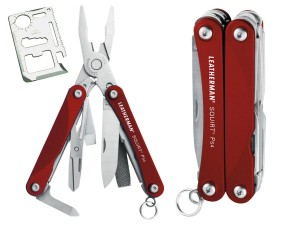 Multitool Leatherman Squirt PS4 Red