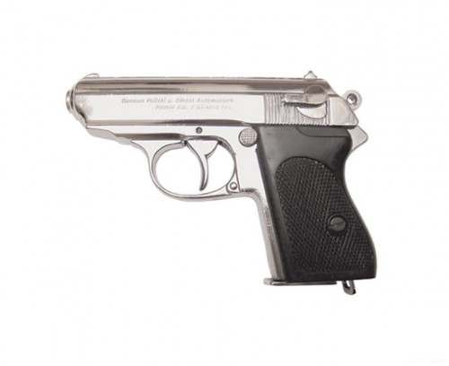 Pistolet Walther PPK niklowany